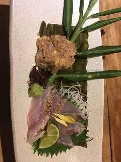甘鯛昆布〆と出西生姜なめろう 盛り合わせ