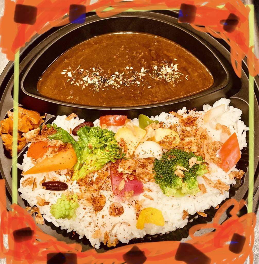 ごつ盛りぶっかけカレー(野菜プラス)→テイクアウト