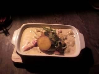 ブルーチーズとポテトのニョッキ・クリームグラタン