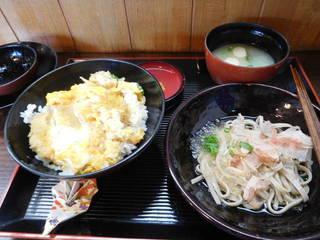 カツ丼(玉子)とおろしそばのセット