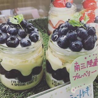 ブルーベリーショートケーキ