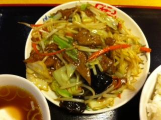 レバ野菜炒め定食