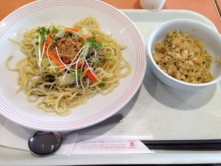 夏とく冷やし麺+ミニチャーハン