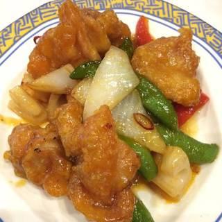 鶏肉の野菜のピリ辛炒め