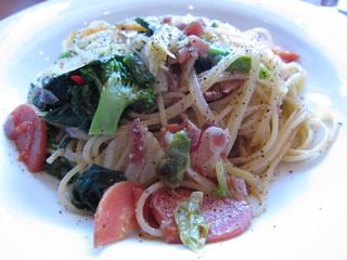 鎌倉野菜とアンチョビのスパゲッティ