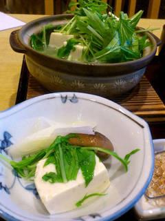 蕎麦湯豆腐
