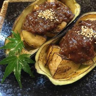 高知県産米茄子の肉味噌田楽