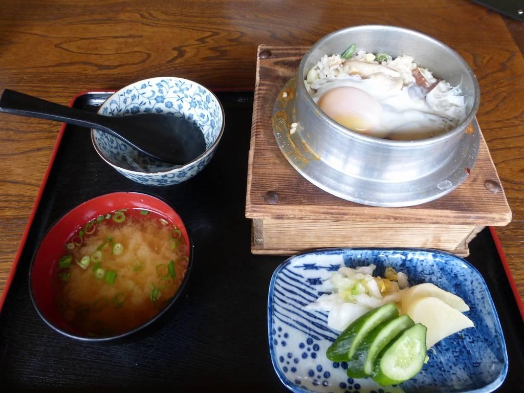 山菜釜めし定食