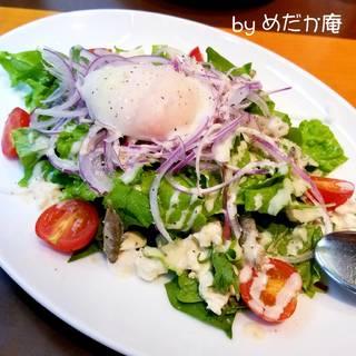 スクガラスとゆし豆腐のシーザーサラダ