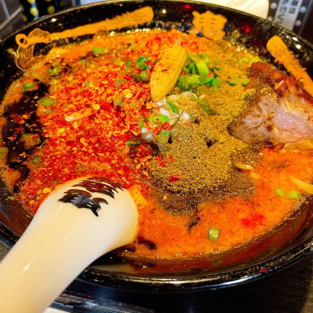 カラシビ味噌らー麺(カラ鬼増し・シビ鬼増し)