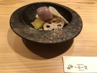 温野菜サラダ(茶豆ポタージュ/コーンポタージュ)