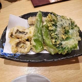 夏野菜とハモの天ぷら