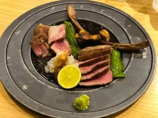 北海道の羊肉と松茸のロースト