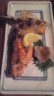 鮭ハラスの塩焼