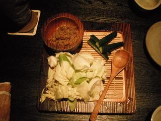 牛タン味噌とバリバリキャベツ
