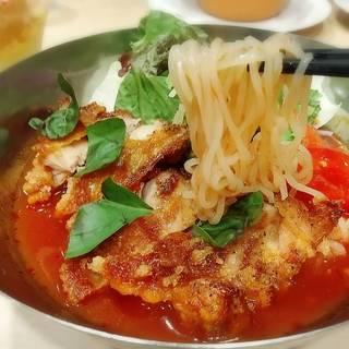 盛岡冷麺 サルサチキンのトマトスープ