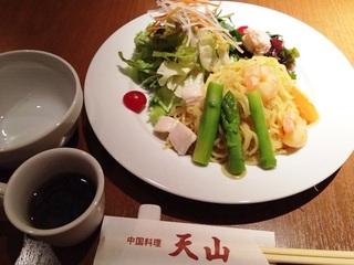 サラダ風海鮮冷麺