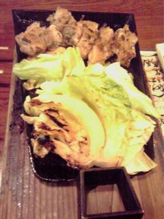 会津地鶏の鉄板焼きねり七味添え