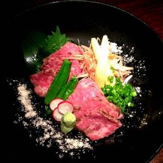 近江牛の超レアステーキ ~タタキ風~