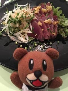 鰹と新玉葱の和風サラダ