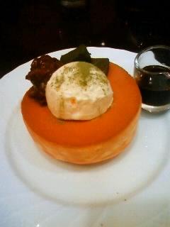 抹茶わらび餅と小倉のスフレパンケーキ
