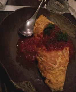 レタスとトマトのオムライス
