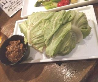 春キャベツの肉味噌マヨネーズ