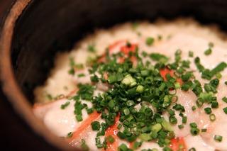 新島キンメダイの土鍋炊き御飯