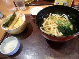 ミニ天丼ミニ麺セット