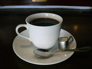 自家焙煎のホットコーヒー
