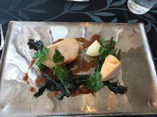 大山鶏のロティ 粒マスタードソース