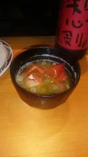 海老蟹みそ汁