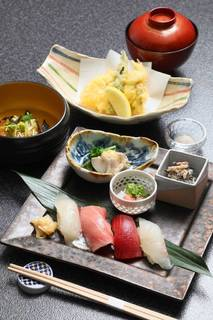 蓮根まんじゅう寿司セット