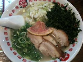 アオサ入り鶏パイタン麺