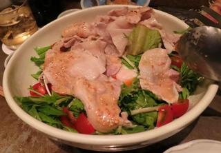 豚しゃぶサラダ湯玉のせ