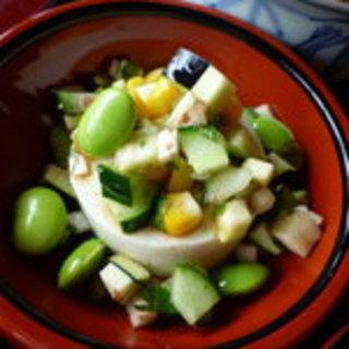 ダシと青ばた豆の豆腐