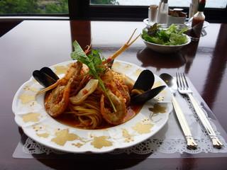 海の幸のスパゲティ 漁師風
