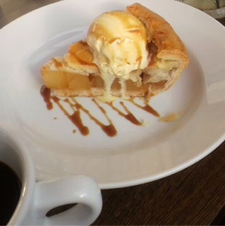 Hot Caramel Apple Pie
