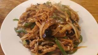 豚肉黒酢炒め(魚香肉絲)