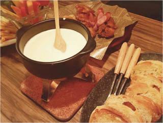 美豚と直送ファームのチーズフォンデュ