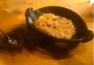 マッシュポテト、キノコ、ひき肉のパン粉焼き