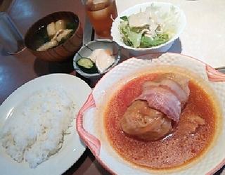 大きなロールキャベツ定食