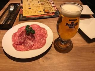 生ハムと生ビール