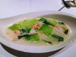 青梗菜とずわい蟹のクリーム煮