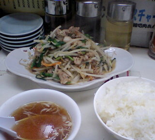 肉野菜炒めライス
