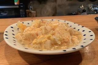揚げ豆腐の春の野菜あんかけ