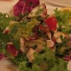 真タコとブロッコリーレタスのサラダ