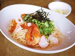 魚介と明太子の冷製カッペリーニ