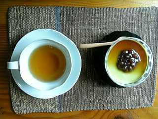 抹茶のパンナコッタ
