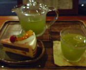 冷茶の洋菓子セット